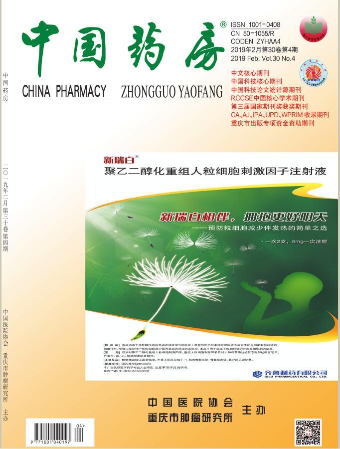 中国药房杂志征订